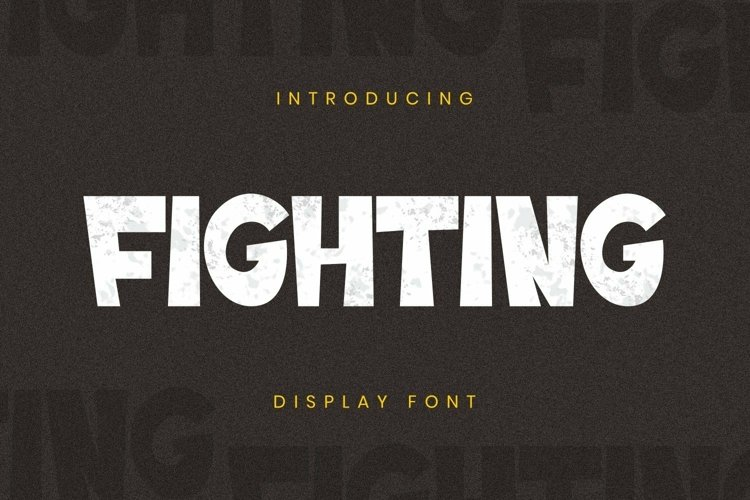 Web Font Fighting Font example image 1