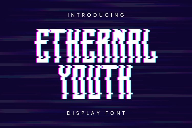 Web Font Ethernal Youth Font example image 1