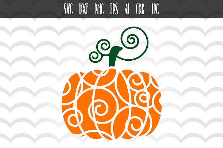SVG Pumpkin Cut File example image 1