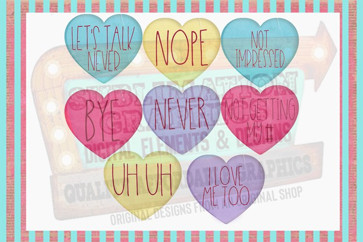 Funny Valentine Hearts Sublimation Digital Download example image 1