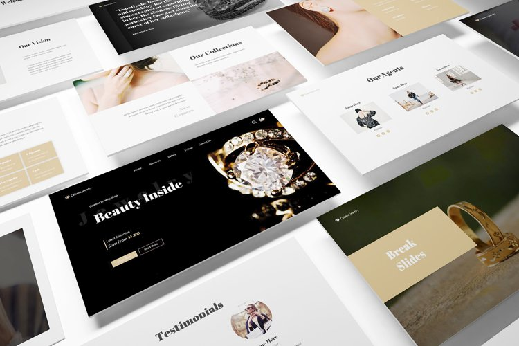 Jewelry Shop Google Slides Template example image 1