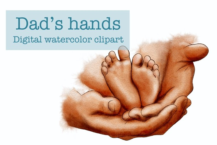Dads Hands Clipart, Baby Feet, Father's Day