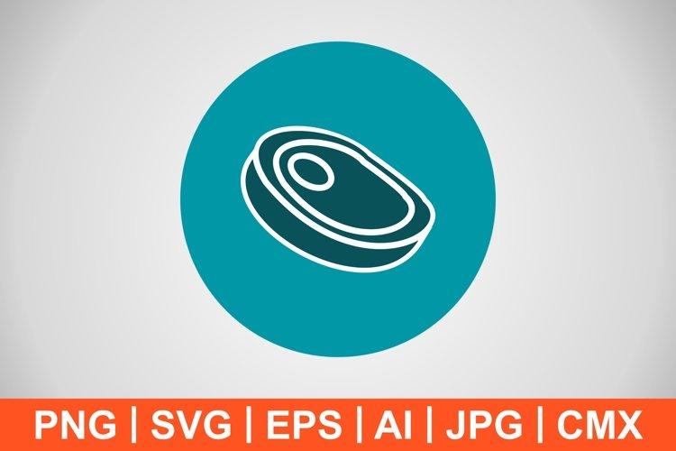 Vector Steak Icon example image 1