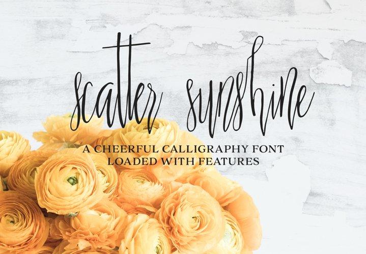 Scatter Sunshine Typeface example image 1