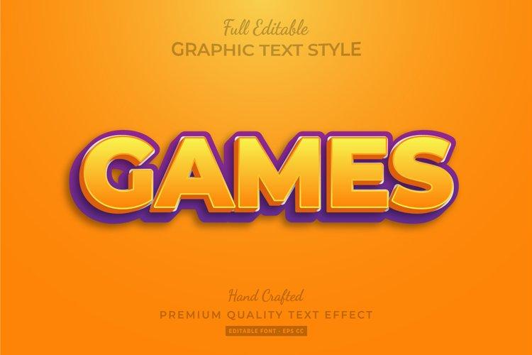 Games Title Editable 3D Text Style Effect Premium