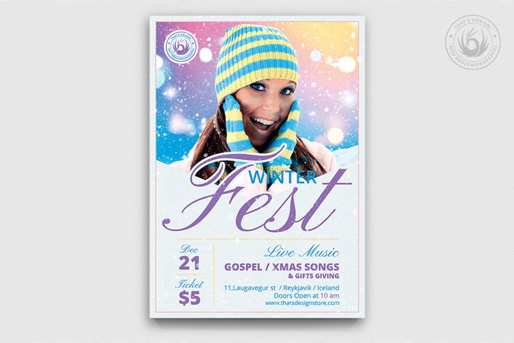Winter Festival Flyer Template V3