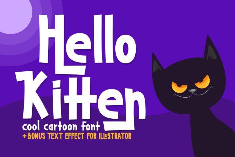 Hello Kitten example image 1