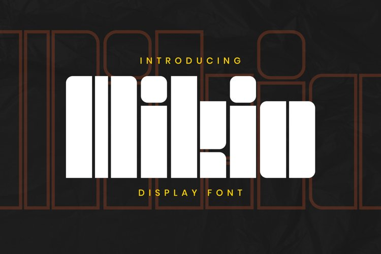Mikio Font example image 1