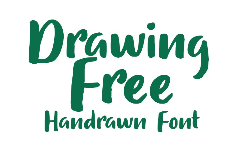 Drawing Free Modern Handrawn Font example image 1