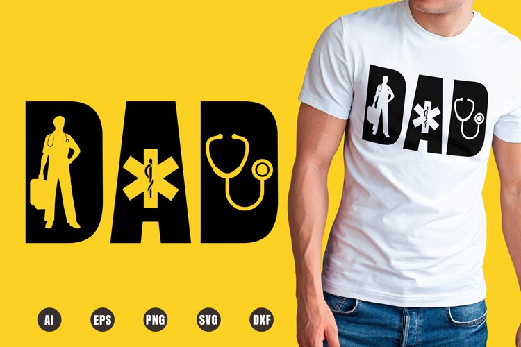 Dad Paramedic SVG - Father's Day Designs example image 1