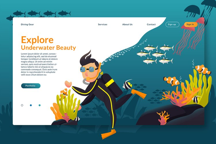 Explore Underwater Beauty - Landing Page example image 1