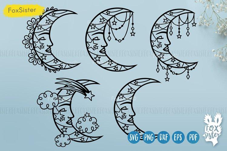 Moon svg bundle, Celestial Svg Png Pdf Eps Dxf, Moon svg