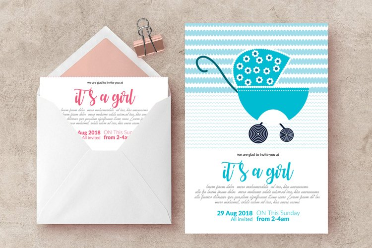 Baby Shower Invitation Templates example image 1