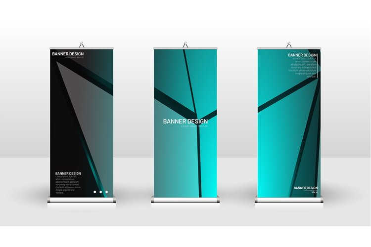 Vertical banner template design. vector abstract background example image 1