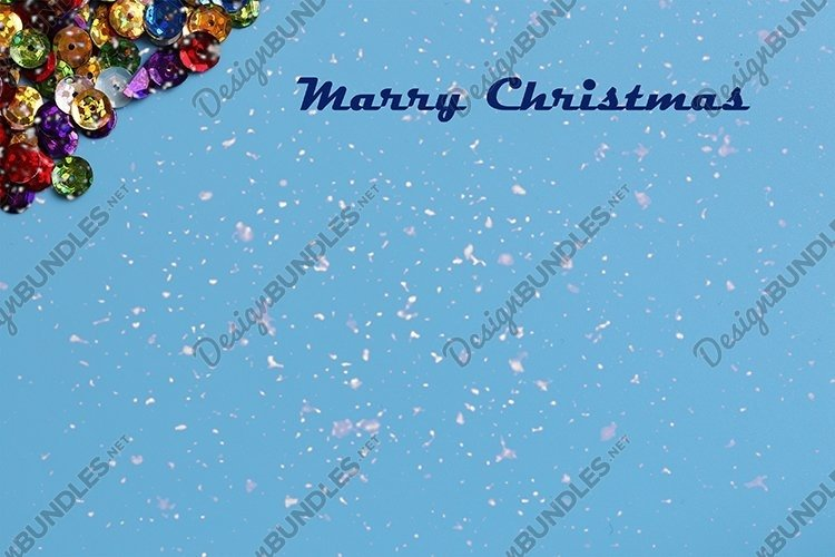 Christmas blue background with sparkles