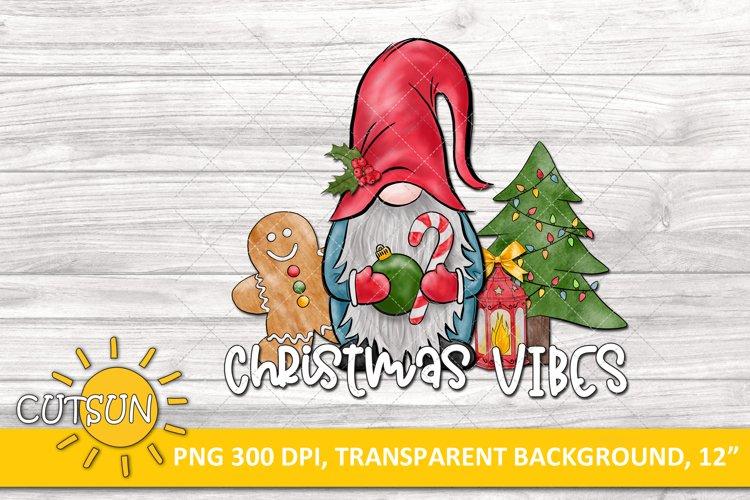 Christmas sublimation design Gnome Christmas Vibes