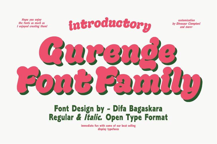 Gurenge Font Family example image 1