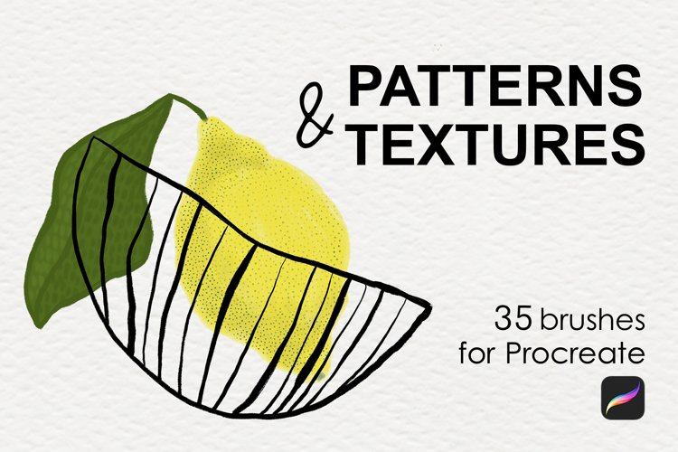 Patterns & textures brushes Procreate example image 1