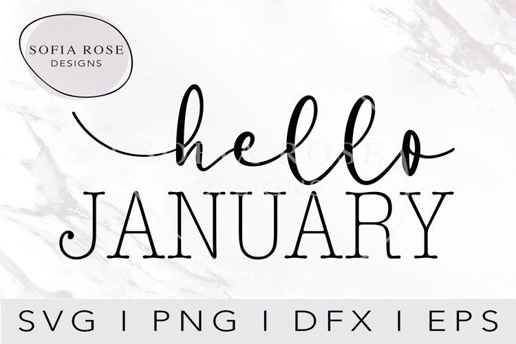 hello JANUARY-Janauary SVG-Hello SVG-Winter SVG-Clip Art