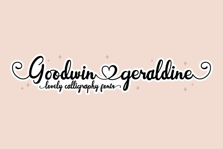 Goodwin Geraldine - Lovely Calligraphy Fonts example image 1