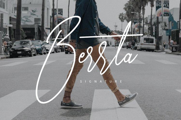 Berrta Typeface example image 1