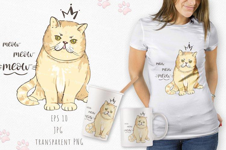 Cat print # 5 example image 1