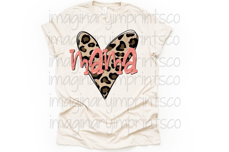 Mama Leopard heart png sublimation