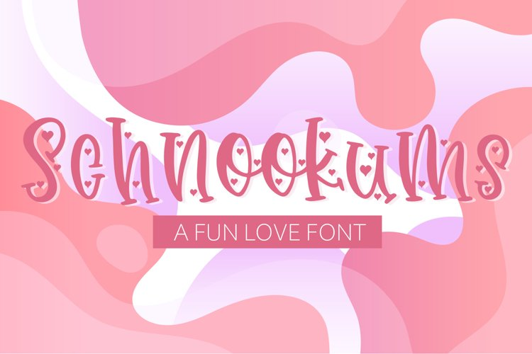 Schnookums A Fun Love Font example image 1