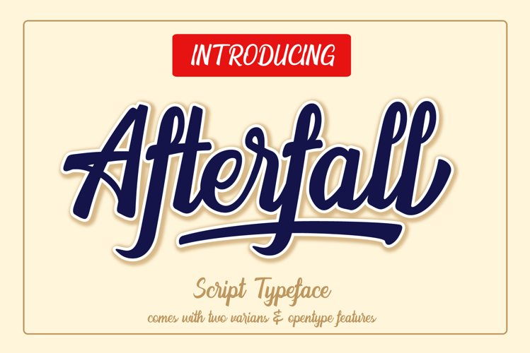 The Afterfall - Extra Rough Font example image 1
