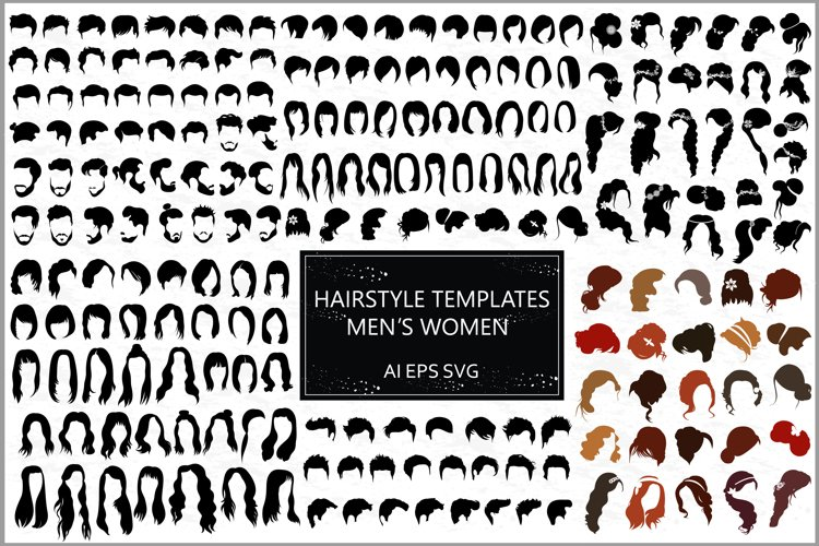 Male and female hairstyles templates example image 1