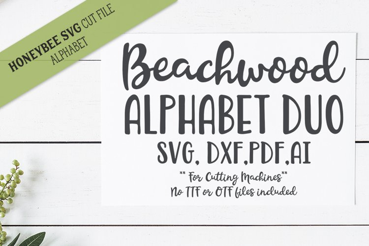 Beachwood Alphabet Duo SVG Cut Files example image 1