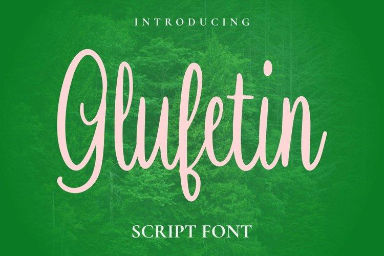 Web Font Glufetin Font example image 1