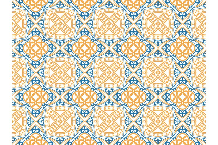 Pattern Abstract Blue and Orange Color example image 1