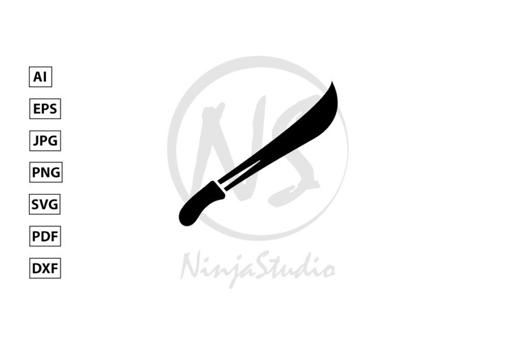 Sword Icon In Flat Style Vector example image 1