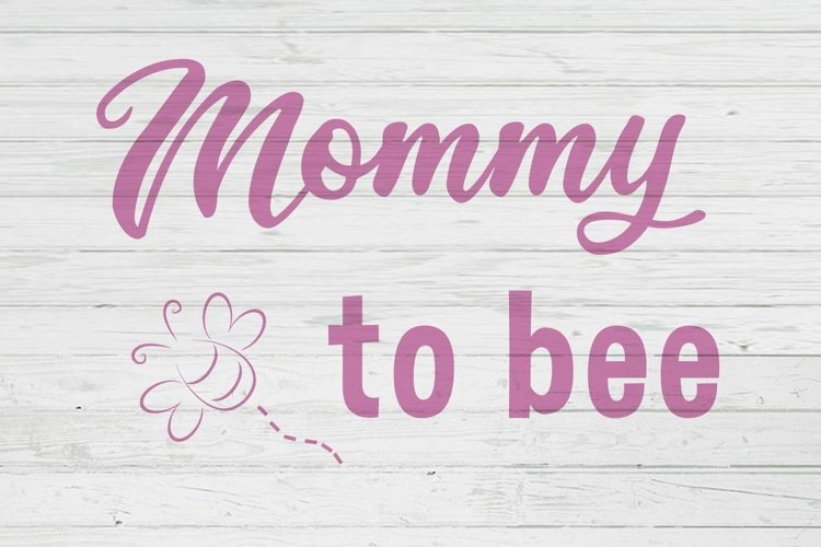 Mommy to bee clipart cut files svg dxf ai png example image 1