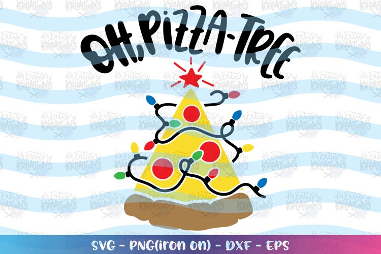 Christmas svg Oh Pizza Tree funny christmas lights example image 1
