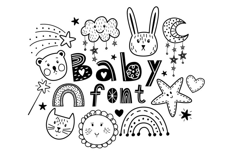 Baby cute font example image 1