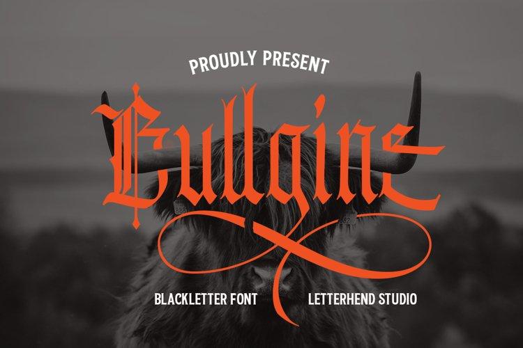 Bullgine Blackletter example image 1