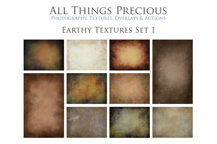 10 Fine Art Earth Tone Textures SET 1 example image 1