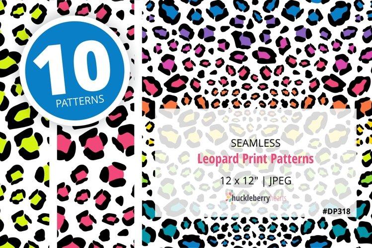 Leopard Print Seamless Patterns