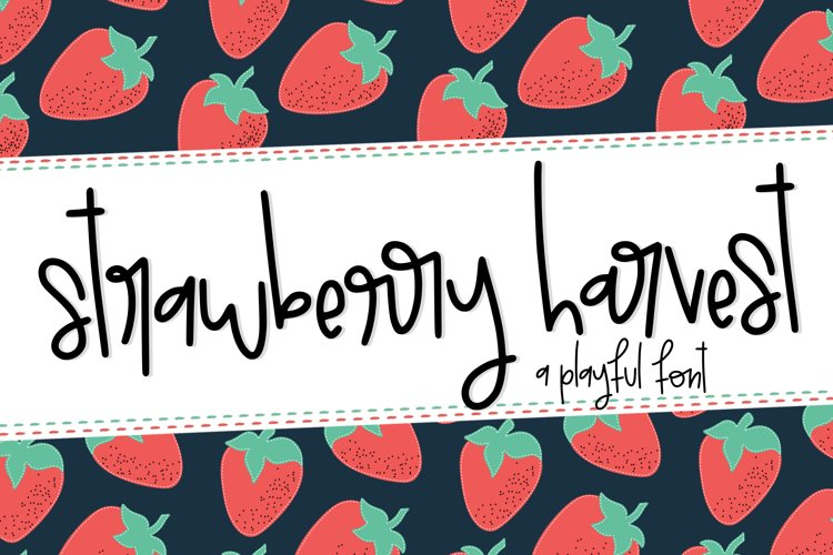 Strawberry Harvest a Playful Font example image 1