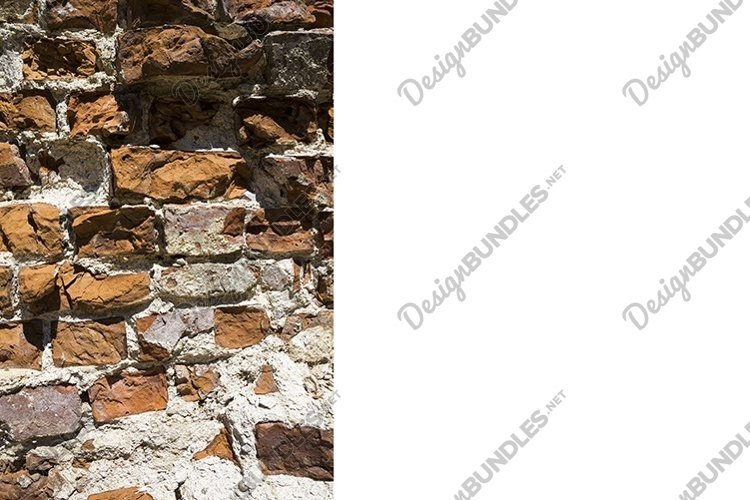 destroyed ancient brick wall example image 1