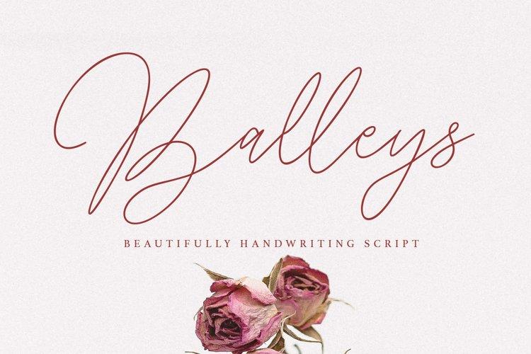 Balleys Beautiful Handwriting Script Font example image 1