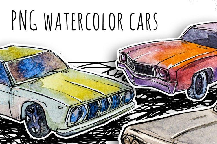 Watercolor cars