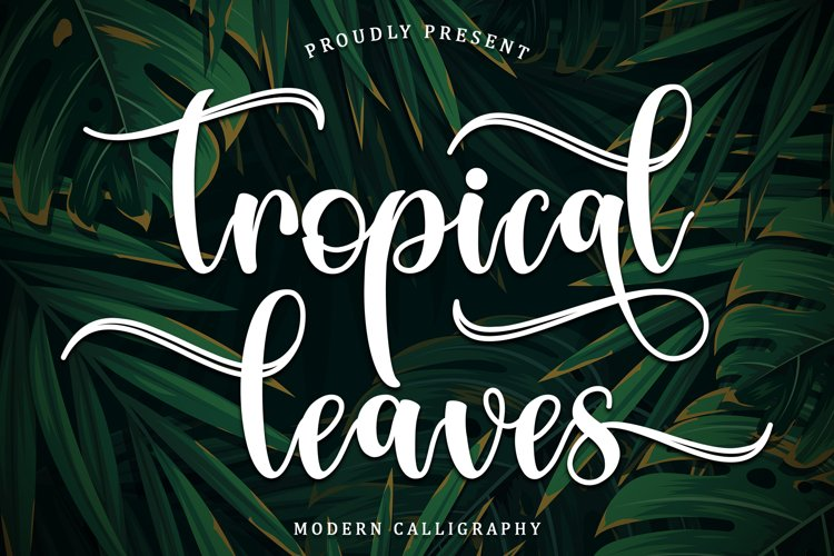 Tropical Leaves example image 1