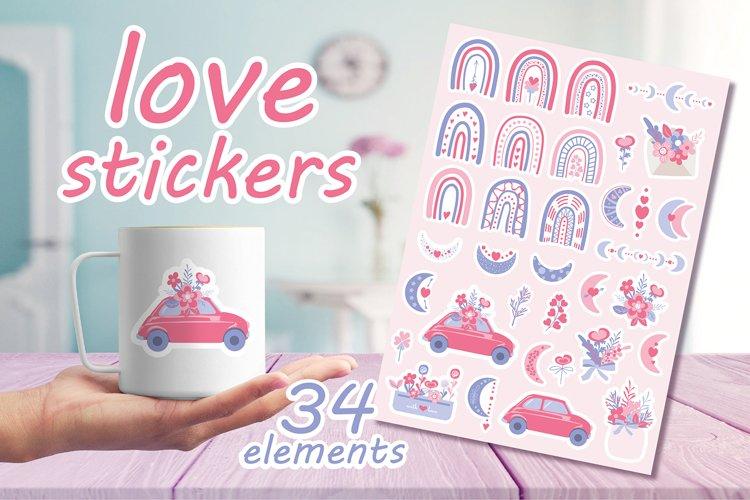 Stickers for Valentines day / Birthday / Wedding / Planner