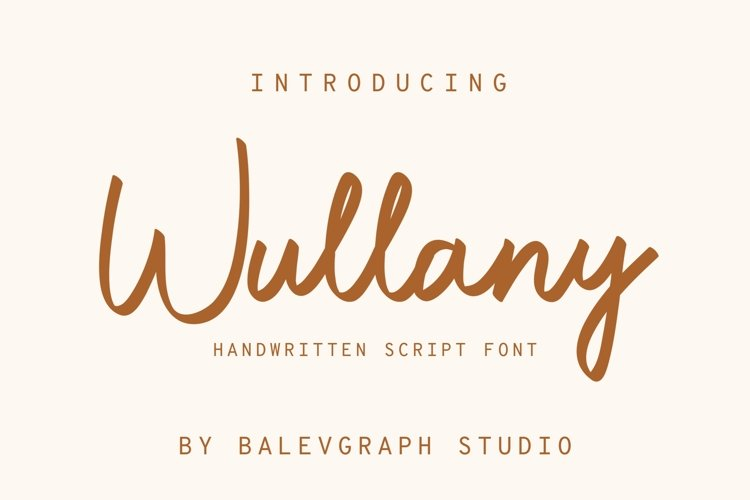 Wullany Brush Script Font example image 1
