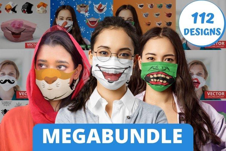 Face Mask SVG Bundle   Mouth cricut svg pattern