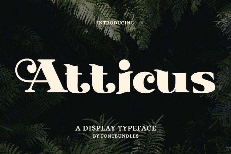 Web Font Atticus