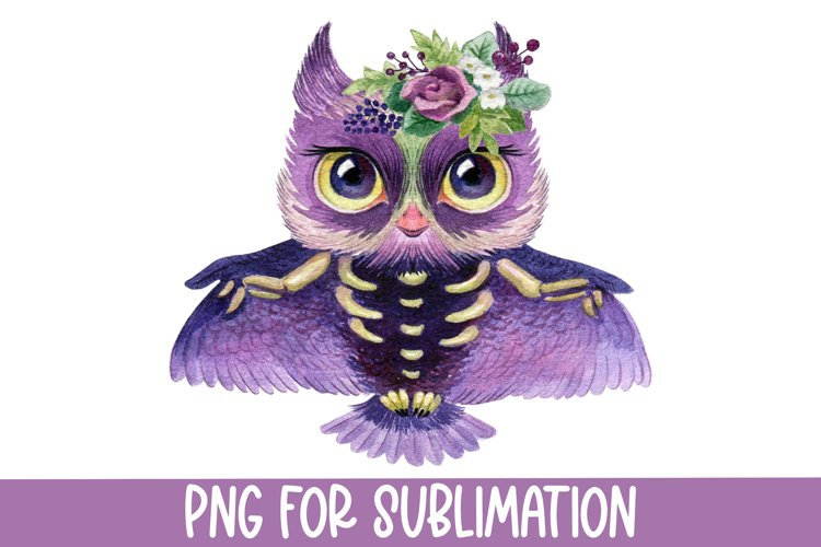 Halloween Sublimation Designs for t shirts, Owl design